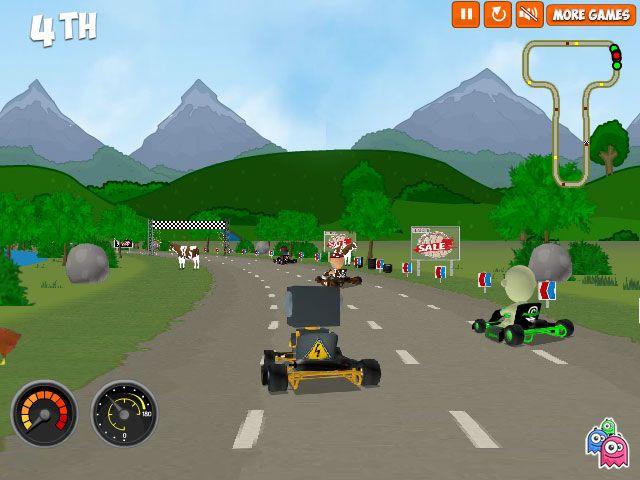 carreras de karts #kart #juegos #carreras