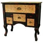 Chinese Antique Cabinet Lacquered In Red With Hand Painted Design - Asian - Buffets And Sideboards - by Oriental Furnishings