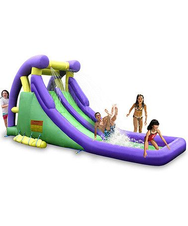 This Double Waterslide Set is perfect! #zulilyfinds