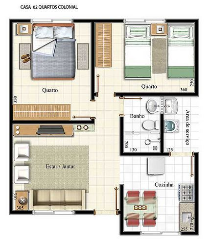 Explore 9 Projetos de Casas populares que podem servir como inspiração para você que pretende construir sua tão sonhada casa.