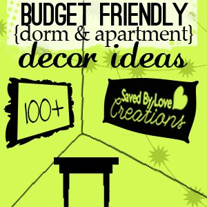 100+ Ways to decorate dorm rooms, or any room, creatively on a budget 100 idea round up!  #crafts #decorating #DIY