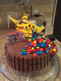 Paw Patrol Rubble Cake Cookies Pinterest Birthday Paw Patrol
