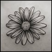 Image result for black and white tattoo daisy