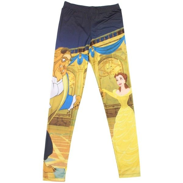 Hot Topic Disney Beauty And The Beast Leggings found on Polyvore