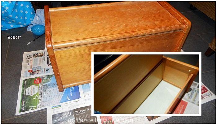 grauwe koffer pimpen tot verkleedkoffer en salontafel