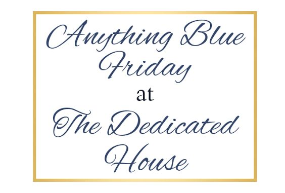 It's not just about home decor; inspiration can be found anywhere.  Head to the Anything Blue party to see more. http://www.thededicatedhouse.com/2014/10/anything-blue-friday-week-75.html
