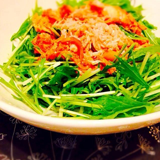 我が家でよく作る簡単サラダです♥︎ - 7件のもぐもぐ - 水菜のナムル by こはるびより