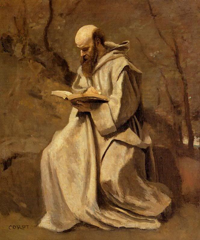 24. Corot, San Jerónimo, obra temprana muestra influencia del naturalismo. 1837.