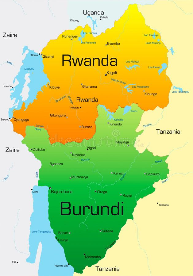 Rwanda And Burundi Abstract Vector Color Map Of Rwanda And Burundi Country Affiliate Abstract Burundi Rwanda Burundi Kibuye Stock Photography Free