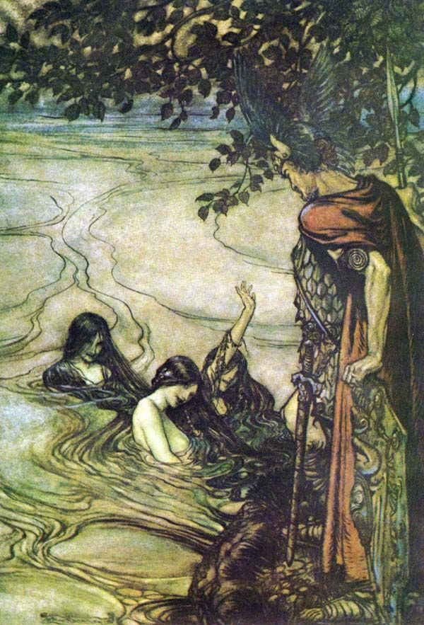 Arthur Rackham The Nyx/Nixie (German: Nix/Nixie/Nyx, Norwegian: Nøkk or plural: Nøkken) are shapeshifting water spirits who usually appear in human form. These spirits have appeared in the myths and legends of all Germanic peoples in Europe.,[1] Although perhaps most known in norwegian and scandinavian folklore