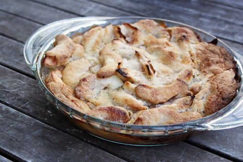 Swedish Apple Pie (a.k.a. Makes-Its-Own-Crust Apple Pie)  OMG...this pie is so good I can't even tell you, not to mention how easy it is to make too,,,. I've made this tons of times..the only problem is, I could eat the whole thing.