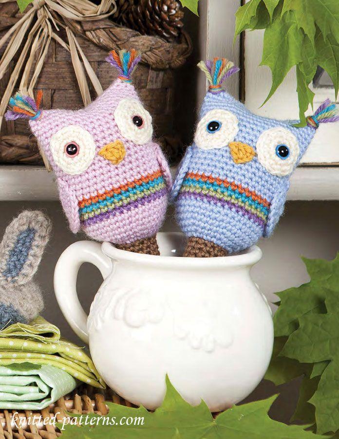 Amigurumi Easy Patterns Free : Crochet owl baby rattle free pattern, 7/15 Owls - free ...