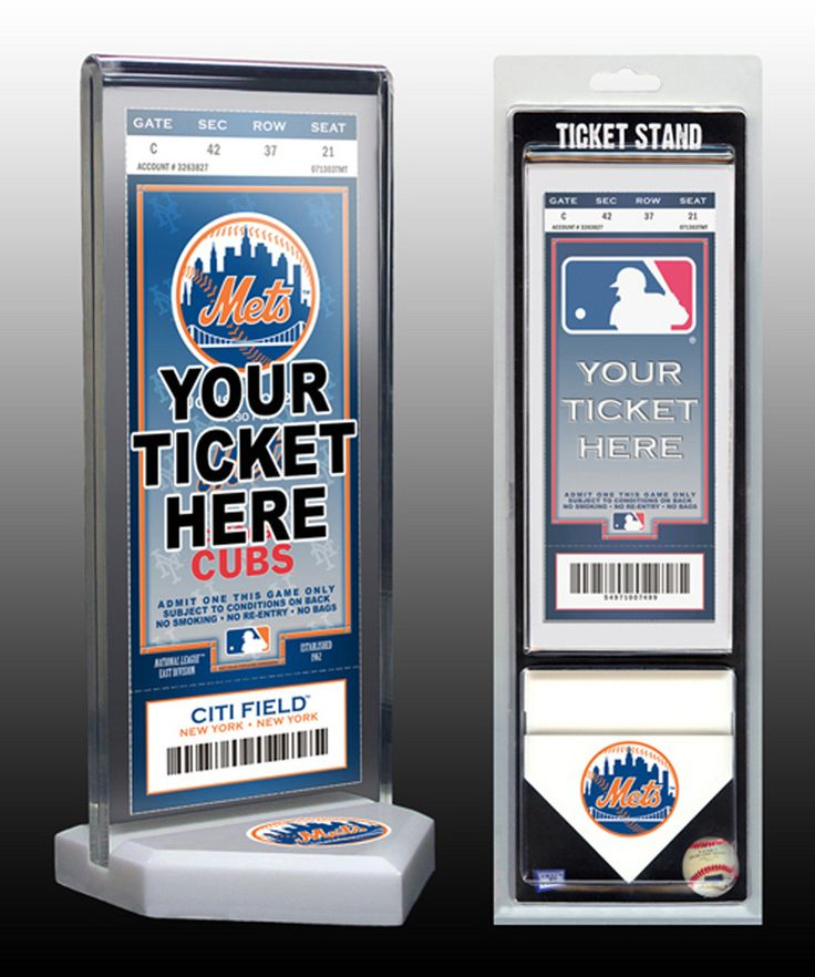 That's My Ticket New York Mets Ticket Stand