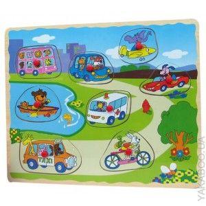 Деревянный пазл для малышей Город и транспорт (IE144)