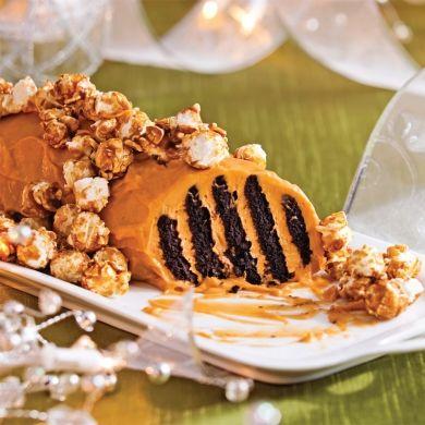 Bûche-biscuit au caramel - Desserts - Recettes 5-15 - Recettes express 5/15 - Pratico Pratiques - Noël - Dessert