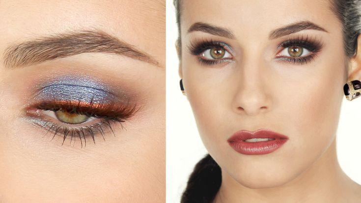 Trucco Argento-Blu e labbra MARSALA | MrDanielMakeup