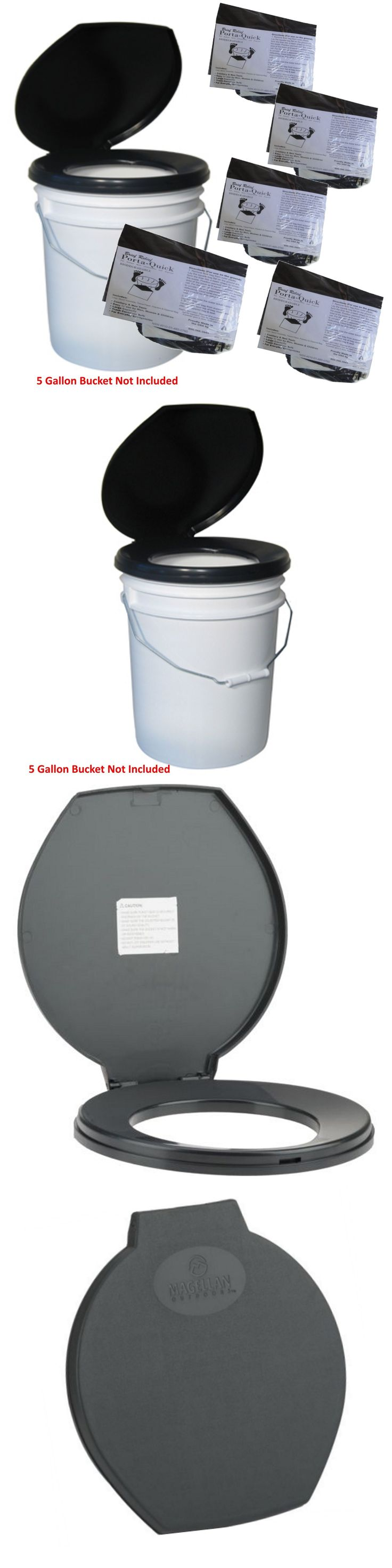 Portable Toilets and Accessories 181397: Bucket Toilet Seat And 20-Use Nasa Kits To Destroy, Deoderize, And Dispose Of Waste -> BUY IT NOW ONLY: $34.5 on eBay!