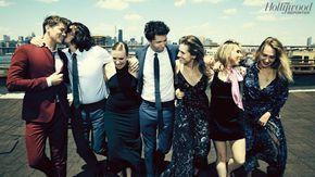 THE CAST OF 'GIRLS' - Alex Karpovsky, Andrew Rannells, Allison Williams, Lena Dunham, Jemima Kirke, Adam Driver and Zosia Mamet