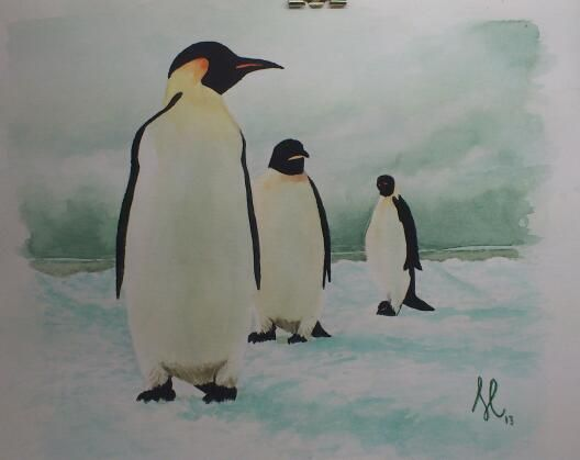 I love these penguins!(watercolor)