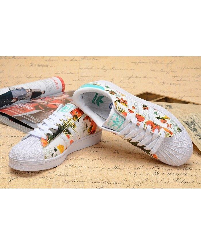 15721d910b2 Adidas Superstar Orange Blossom Shoes