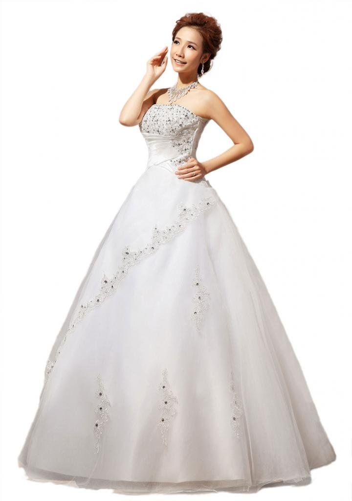 Yacun New Strapless Lace Beading Wedding Dress Bride Wedding Gown Custom  Size Price : Availability : Pm Details Wedding Product FeaturesThe Fabric  Is Made ...