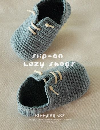Crochet Pattern - Slip-On Toddler Lazy Shoes Size 4, 6, 7, 8, 9 Booties Sneaker Socks Slip On Home Slippers Crochet Pattern (SLS02-B-PAT)