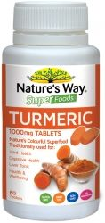 Nature's Way Super Turmeric Tablets is a superfood tablet derived from the root of the turmeric plant.