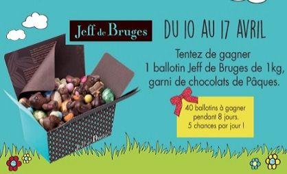 40 ballotins d'1 kg de chocolat Jeff de Bruges à gagner | Echantillons gratuits, réductions et cadeaux