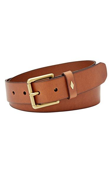 Fossil 'Diamond Keeper' Leather Belt available at #Nordstrom