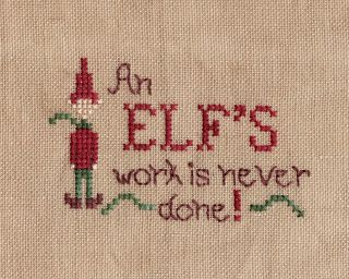 All My Scattering Moments: Primitive ornaments SAL - An Elf's Work is Never Done!