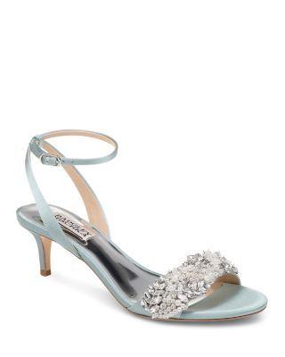 fe50c50c6c Badgley Mischka Women's Fiona Embellished Kitten Heel Sandals |  Bloomingdale's