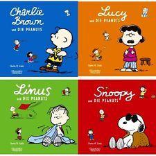 4x Die Peanuts mit Charlie  Snoopy  Linus  Lucy - NEU  HC   schräge Comic-Bücher