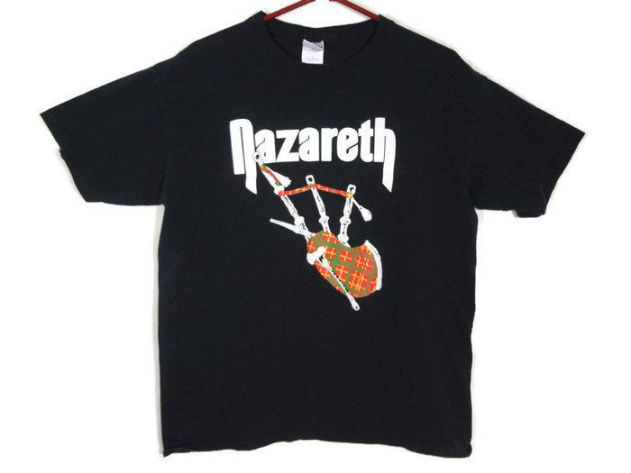 Vintage Nazareth Band Shirt - Large - Rock Shirt - Band Tee - Bagpipes - Classic Rock - Vintage Tee - Blow Me - by BLACKMAGIKA on Etsy