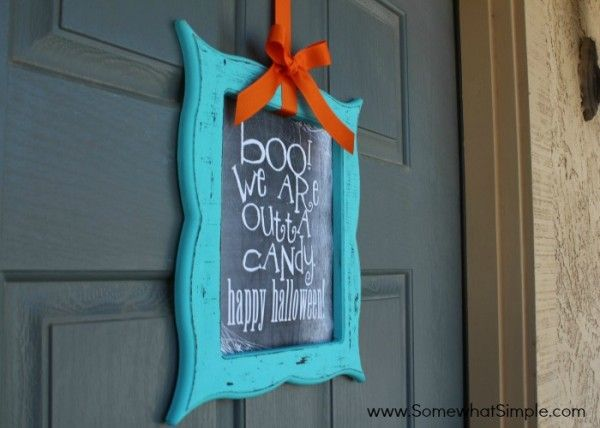 boo - we are out of candy sign