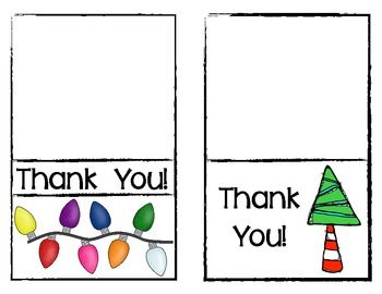 FREEBIE! Christmas Thank You Cards for Teachers