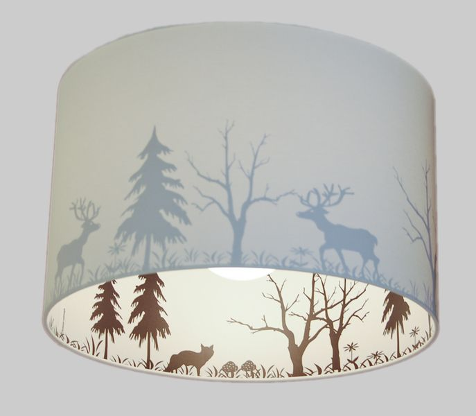 Lamp Shade Forest Silhouette