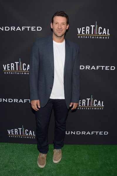 """Tony Romo Photos Photos - Executive producer/NFL quarterback Tony Romo attends the premiere of Vertical Entertainment's """"Undrafted"""" at ArcLight Hollywood on July 11, 2016 in Hollywood, California. - Premiere Of Vertical Entertainment's 'Undrafted' - Arrivals"""