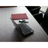 "To protect the writing desk:  Desktex Polycarbonate Anti Slip Desk Protector $31 for 29""x59"""