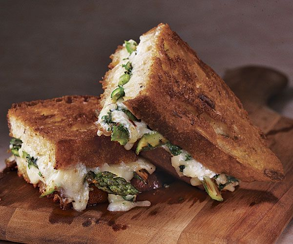Roasted Asparagus and Fresh Herb Grilled Cheese THIS WAS DELICIOUS!!! definitely will be made again!