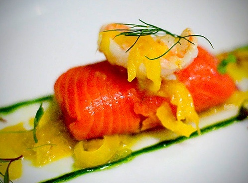 Food drink food appetizers seafood fish trout for Canape yam but