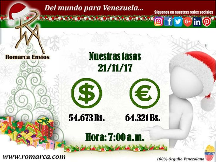 ☀🌳¡Feliz martes! Hoy nuestras tasas de cambio a las 7:00am hora Este #Usa 👉🏻 #Venezuela. 📨Puedes hacernos llegar todos tus comentarios a través de nuestro sitio web 📱. ¡Aquí estamos y aquí seguiremos! #Alemania #Francia #Italia #PaisesBajos #Colombia #Panama #Mexico #Canada #Aruba #Ecuador #Miami #NewYork