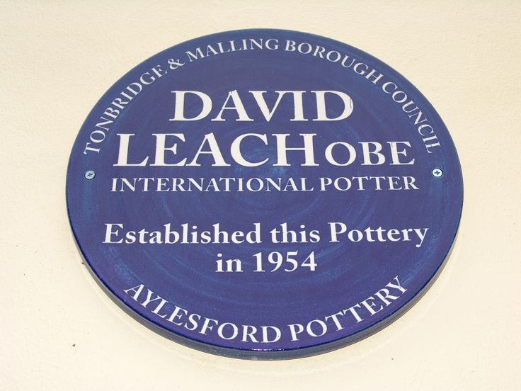 New plaque to David Leach who started the pottery in 1954.