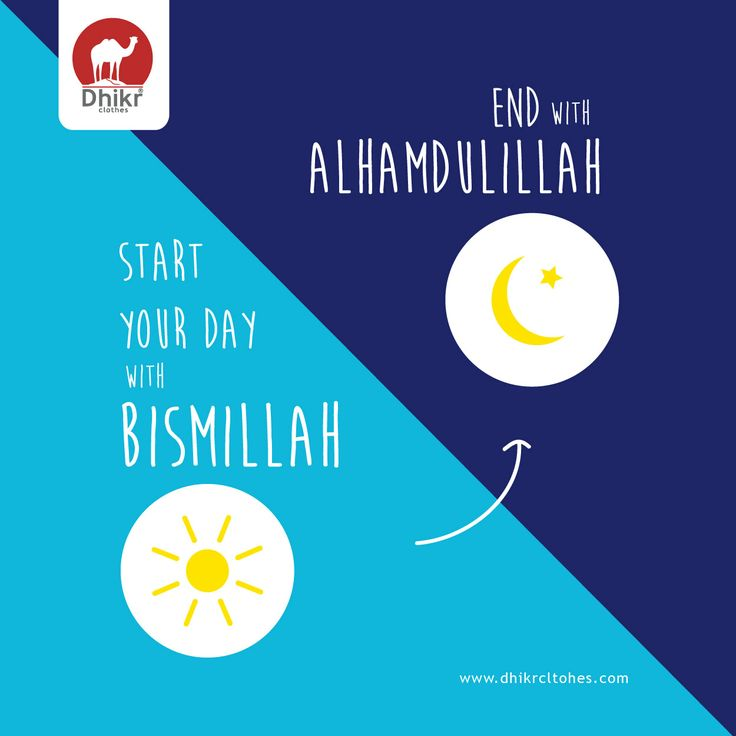 Bissmillah when beginning Alhamdulillah when Ending