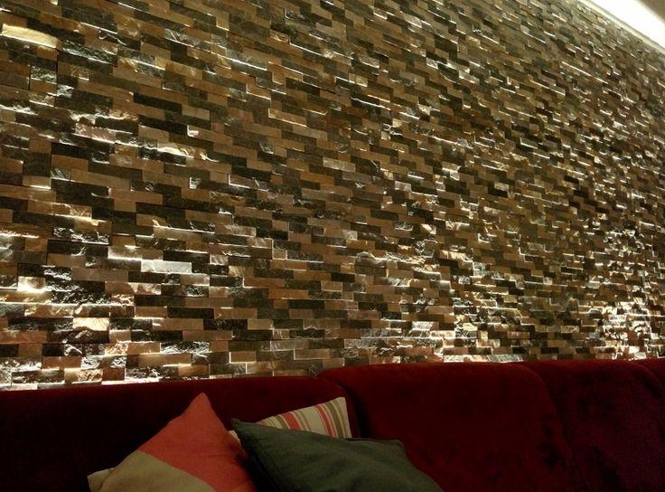 Indirekte Beleuchtung Steinwand : 1000 ideeën over Steinwand Innen op Pinterest  Raffstore, Steinwand