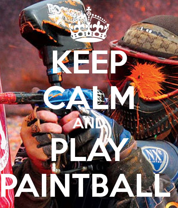 'KEEP CALM AND PLAY PAINTBALL ' Poster