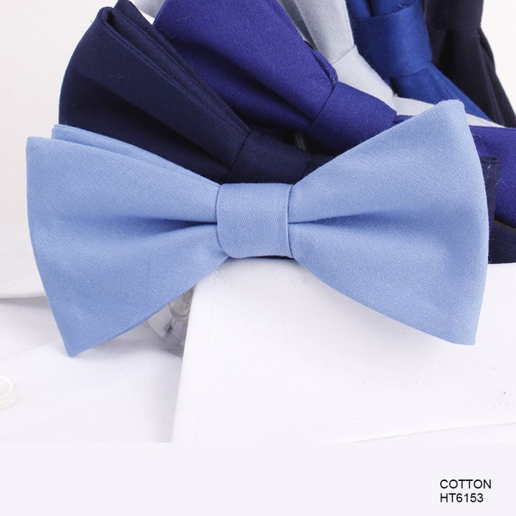 Cotton pre tied bow tie - Solid denim blue - Notch STONEWASH Blue Notch PWJEhNSH5H