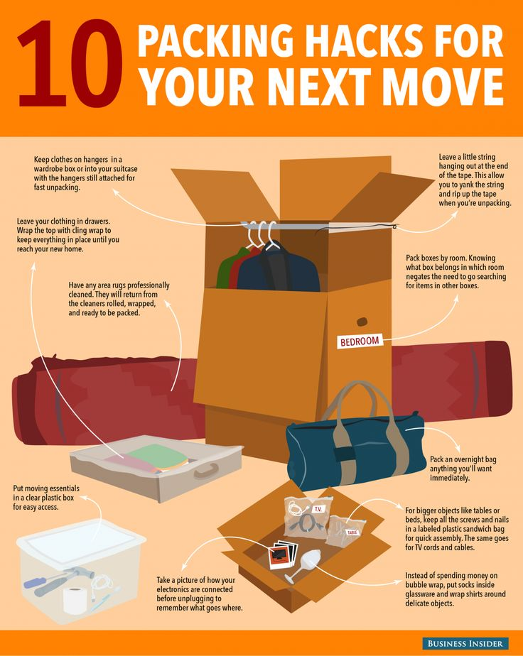 10 packing hacks for your next move from Business Insider