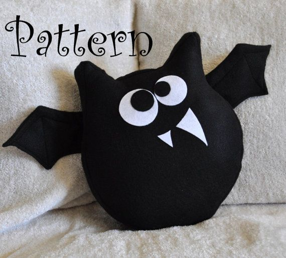 Bat Pattern PDF Jugular the Bat  Plush Pillow by bedbuggspatterns, $4.99