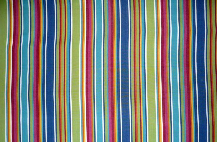 Blue Striped Oilcloth Fabrics   Wipeable Stripe Fabrics Climbing Stripes