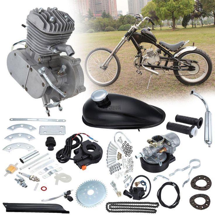 2Stroke 80cc Bicycle Engine Motor Kit Cycle Bike Gas Air Cooling Motorized DIY V